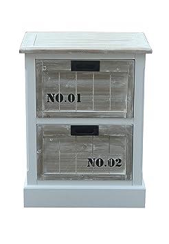 SIT-Möbel 8059-10, Mobiletto con cassetti Forest, in MDF anticato certificato FSC, 50 x 35 x 65 cm, Beige (Bunt)