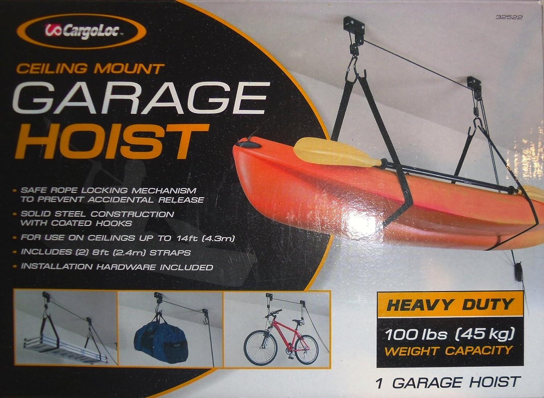 Cargoloc Heavy Duty Garage Hoist 100 Lbs Ceiling Mount