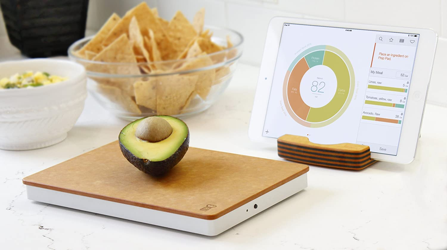 The Orange Chef Prep Pad- Smart Food Scale