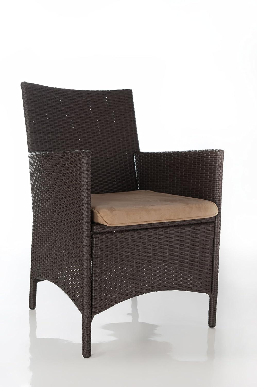 Geflecht Stuhl Ancona , PE-Geflecht, Alu-Rahmen, Farbe braun, LILIMO ® günstig
