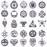 Michelle Queen Celtic Cross Charms for DIY Necklace Pendants Making Pack of 25 (Color: A:Anqtique Silver Celtic Charms, Tamaño: A:Anqtique Silver Celtic Charms)