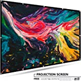 EleTab 120 inch Projector Screen Portable 16:9 HD Outdoor Indoor Projector Movies Screen Foldable Anti-Crease for Home Theater Support Front and Rear Projection (Color: 120 Inch, Tamaño: 120 Inch)
