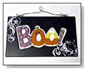 Boo! Wood Sign