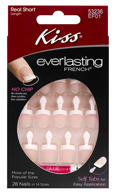 Kiss Nails Everlasting French Real Short (2-Pack)