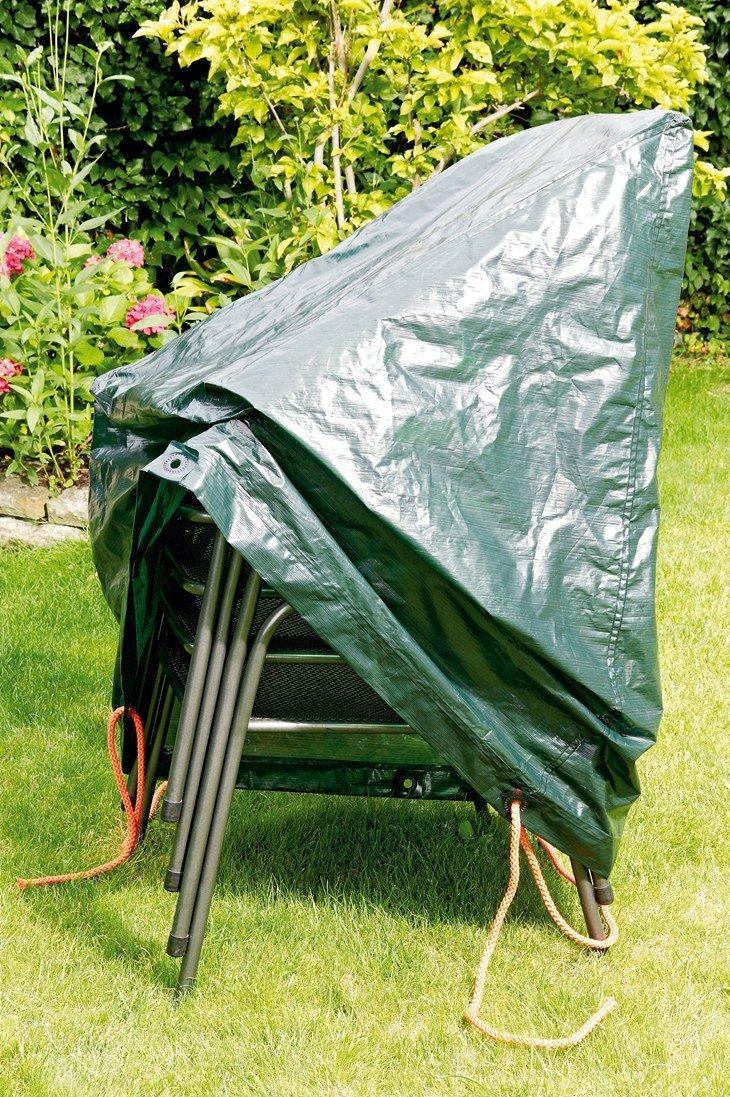Rainexo Schutzhülle hochreißfest für 4 stapelbare Sessel 0.65 x 1.15 x 0.68 m