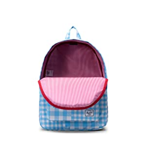 Herschel Classic Backpack, Gingham Alaskan Blue, One Size (Color: Gingham Alaskan Blue, Tamaño: One Size)