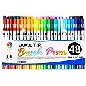 Smart Color Art Brush Pens with Fineliner Tip 0.4 Art Markers