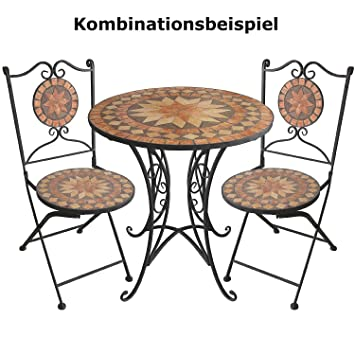 mosaik gartentisch rund 70cm mosaiktisch beistelltisch. Black Bedroom Furniture Sets. Home Design Ideas