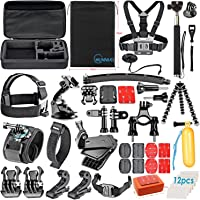 Chunnuo 50-in-1 Outdoor Sport Camera Accessories Bundle Kit