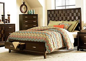 Homelegance Darien Platform Bed W/ Storage Footboard In Espresso - Queen