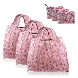 FINEX - Set of 3 - My Melody Foldable Reusable Tote Recycle Shopping Bag - Lightweight Portable Large Capacity (Color: 3 Same [M] Size - My Melody)