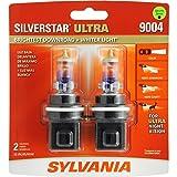 SYLVANIA 9004 SilverStar Ultra High Performance Halogen Headlight Bulb, (Contains 2 Bulb) (Color: White)