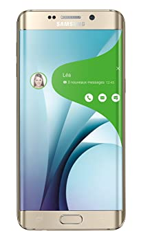 Samsung Galaxy S6 Edge Plus Smartphone débloqué 4G (Ecran: 5,7 pouces - 32 Go - Simple Nano-SIM - Android 5.1 Lollipop) Or