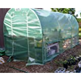 Quictent 2 Doors Reinforced PE Cover 12' X 7' X 7' Portable Greenhouse Large Walk-in Green Garden Hot House (Color: greenhouse, Tamaño: 12x7x7)