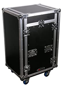 Odyssey FZ1116WDLX Flight Zone Ata Combo Rack With Wheels And Side Table  11u Top Slant, 16u Vertical review purchaseimplantation info other related content