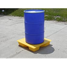"Dixie Poly BM-SDL Polyethylene Interlocking 1 Drum Spill Deck, 10 gallon Sump Capacity, 32"" Length x 32"" Width x 6"" Height"