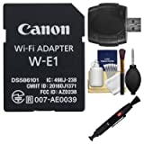 Canon W-E1 Wi-Fi Mobile Adapter for EOS 7D Mark II, EOS 5DS, EOS 5DS R Cameras with Card Reader + Cleaning Kit