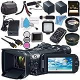 Canon VIXIA GX10 UHD 4K Camcorder 2214C002 + BP-820 Lithium Ion Battery Pack + 128GB SDXC Card + Professional 160 LED Video Light Studio Series + Card Reader + Fibercloth Bundle (Tamaño: Professional)