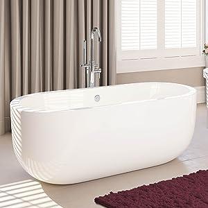 1780 mm Modern Freestanding Bath Designer Double Ended Large Bathroom Bathtub  iBath       Customer reviews and more information