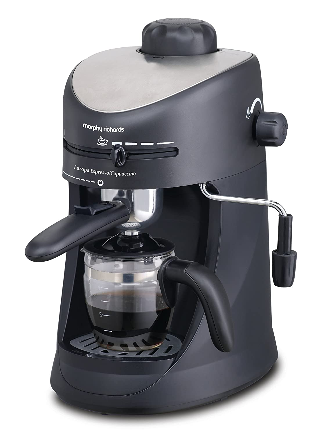 Electronic Make Coffee With Espresso Machine espresso machine buy machines online at low prices in morphy richards new europa 800 watt and cappuccino 4 cup coffee maker black
