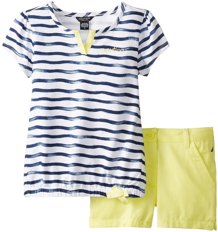 Nautica Big Girls' Printed Wavetee and Shorts толстовка nautica n3470