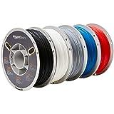 AmazonBasics Premium PLA 3D Printer Filament, 1.75mm, 5 Assorted Colors, 1 kg per Spool, 5 Spools (Color: Assorted Color, Tamaño: 1.75mm)