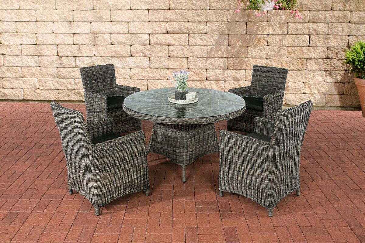 clp polyrattan sitzgruppe pinella grau meliert 4 st hle. Black Bedroom Furniture Sets. Home Design Ideas