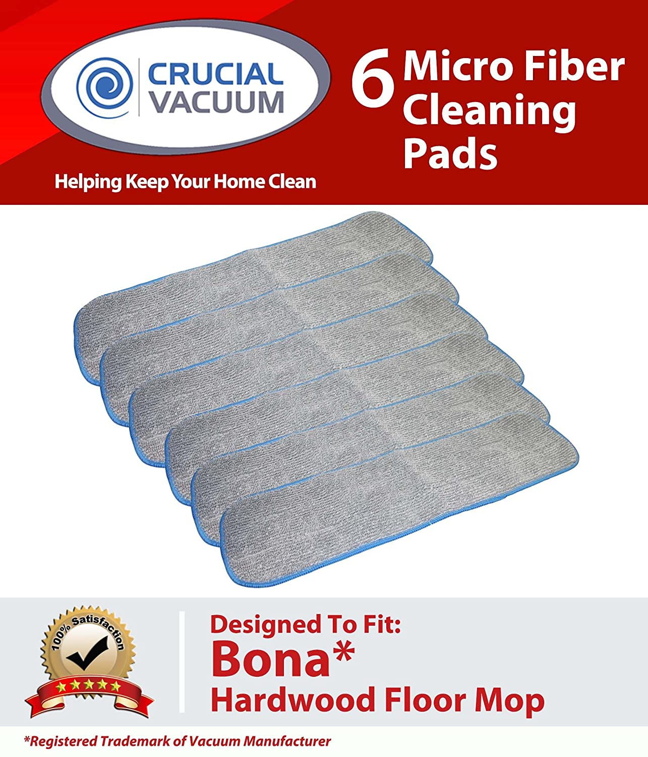Crucial Vacuum 6 Bona Hardwood Floor Micro Fiber Cleaning Pad Fits Bona Hardwood Floor Mops, 15in Mohawk, Bona, Orange Glow; AX0003053 at Sears.com