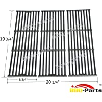 Hongso PCE051 Universal Gas Grill Grate Matte Cast Iron Cooking Grid