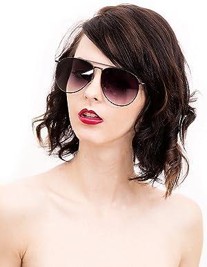 1804c0e2e1 O2 Eyewear 97025 Premium Oversized Flat Aviator Mirrored Sunglass Womens  Mens (METAL