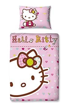 parure de lit b b housse housse de couette taie hello hello kitty 120x150cm cuisine. Black Bedroom Furniture Sets. Home Design Ideas