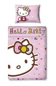 parure de lit b b housse housse de couette taie hello hello kitty 120x150cm cuisine. Black Bedroom Furniture Sets. Home Design Ideas