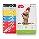 Sugru Moldable Glue - Family-Safe | Skin-Friendly Formula - Classic Colors 8-Pack (Color: Black, White, Red, Yellow and Blue)