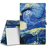 MoKo Case for Fire HD 10 Tablet (5th Generation, 2015 Release) - Slim Folding Cover with Auto Wake / Sleep for Amazon Fire HD 10.1 Inch Tablet, Starry Night