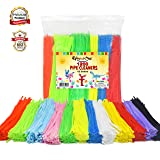EpiqueOne 1200 Pipe Cleaners in 12 Assorted Colors 1000 Plus 200 Fluorescent Chenille Stem for Decorations DIY Arts and Crafts Projects Art Supplies for Adults and Kids (Tamaño: 1200 Pipe Cleaners Set)