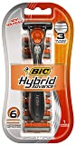 BIC Hybrid Disposable/System Triple Blade Shaver, Men, 6 Count package