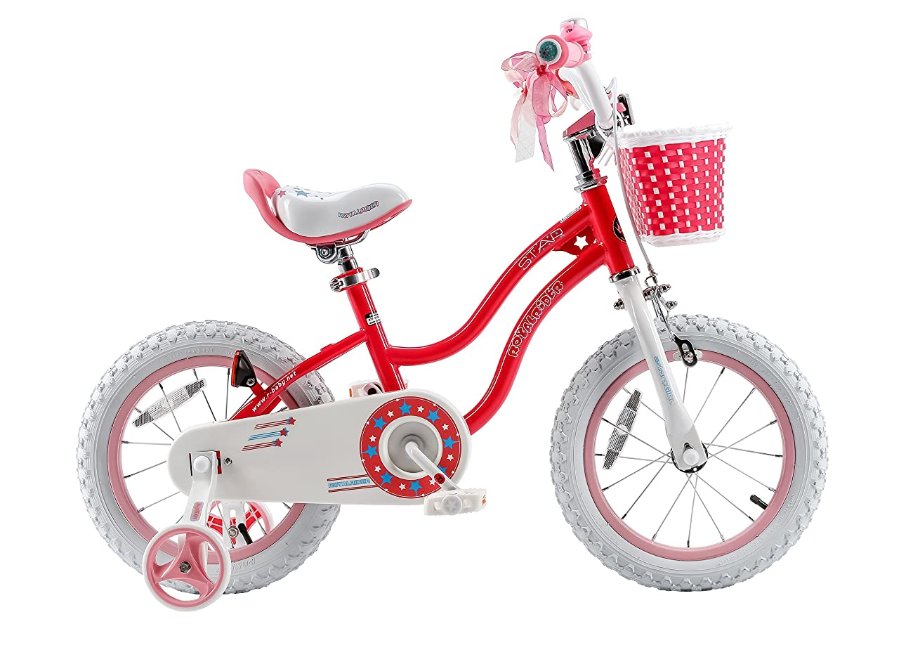 RoyalBaby Stargirl Girl's Bike with Training Wheels and Basket, Perfect Gift for Kids. 12 Inch, 14 Inch, 16 Inch, Blue / Pink 0