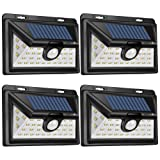 SPECILITE 34 LED Solar Lights Outdoor, Security Waterproof Super Bright Wide Angle Solar Powered Light Motion Sensor Wireless for Wall, Driveway, Pati