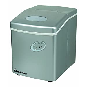 Magic Chef MCIM22TS 27lb Portable Ice Maker Stainless