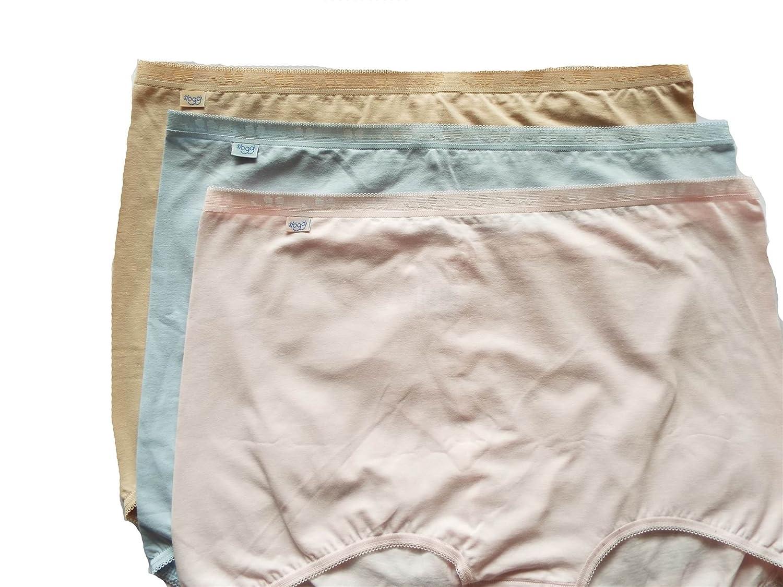 Sloggi Einfach Maxi Kombination 3er Pack Damen Unterhose, Puder, Rosa und Blau, EU 58 kaufen