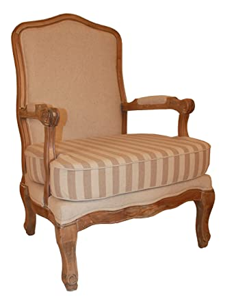 Derrys Antique Striped Armchair Neutral