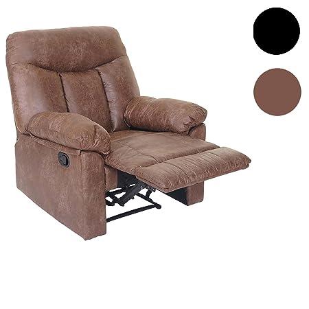 Fernsehsessel Watford, Relaxsessel Liege Sessel ~ Wildlederoptik, Textil