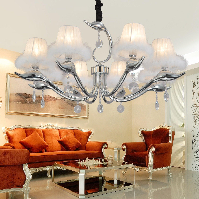 OOFAY LIGHT® Einfach Und Elegant Einfache Europäischen Kristalllampen 8  Schlafzimmer Modernen Wohnzimmer  Kronleuchter Kristall