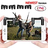 PUBG Mobile Game Controller Sensitive Shoot and Aim Keys L1R1 Trigger Buttons for PUBG/Knives Out/Rules of Survival, Support Both Android and IOS System (2 Pair) (Color: 2 Pair)