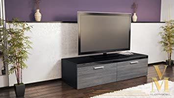 meuble tv bas atlanta atlanta en noir mat avola. Black Bedroom Furniture Sets. Home Design Ideas