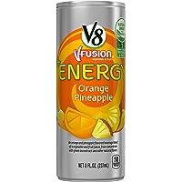 24-Pack V8 +Energy Orange Pineapple Juice,8oz