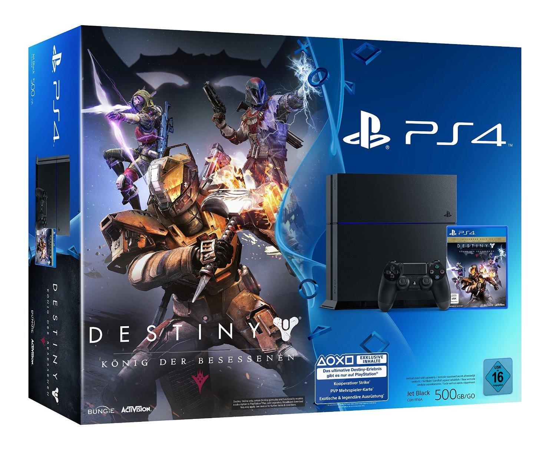 PlayStation 4 - Konsole (500GB) inkl. Destiny: König der Besessenen
