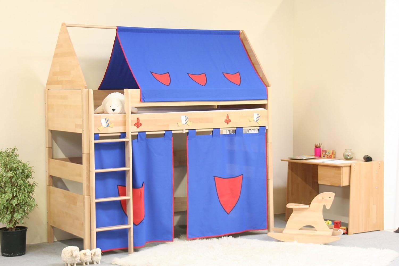 TAUBE Kinderbett Hochbett Ritter 154 cm (Ausführung: 90x200cm, Buche lackiert, Ausstattung: mit Leiter) online kaufen