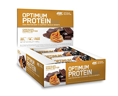 Optimum Nutrition Bar Chocolate Peanut Butter, 10 x 60 g