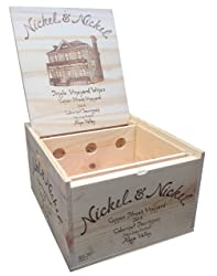 Cabernet Wooden Wine Box with Lid